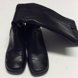 NINE WEST Black Leather Boots Size 7